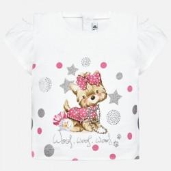 Bluzka Mayoral 1007-55 Koszulka z odkrytymi ramionami dla dziewczynki Baby