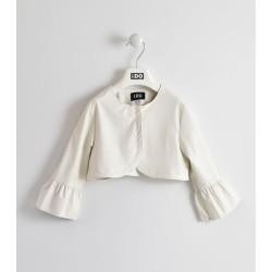 Skórzane bolerko iDO W572 białe