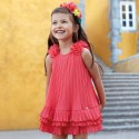 Sukienka Mayoral 3926-59 Sukienka z plisami i falbankami dla dziewczynki