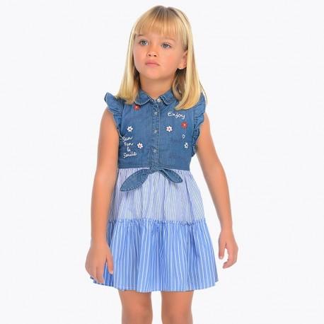 Sukienka Mayoral 3937-05 Sukienka jeansowa dla dziewczynki