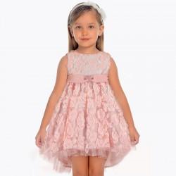 Sukienka Mayoral 3907-92 Sukienka z tiulem i kwiatami dla dziewczynki