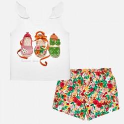 Komplet Mayoral 1231-44 Komplet szorty i koszulka buty dla dziewczynki Baby