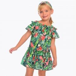Sukienka Mayoral 3952-33 Sukienka z odkrytymi ramionami i nadrukami dla dziewczynki