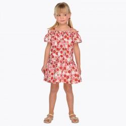 Sukienka Mayoral 3952-34 Sukienka z odkrytymi ramionami i nadrukami dla dziewczynki