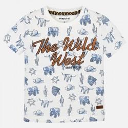 Bluzka Mayoral 3036-64 Koszulka z krótkim rękawem we wzory dla chłopca