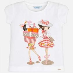 Bluzka Mayoral 3011-13 Koszulka z krótkim rękawem z nadrukiem dla dziewczynki