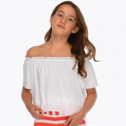 Bluzka Mayoral 6102-64 Bluzka z elastycznym dekoltem dla dziewczynki