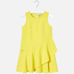 Sukienka Mayoral 6924-73 Asymetryczna sukienka z falbankami dla dziewczyny