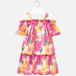 Sukienka Mayoral 6932-40 Sukienka z okrytymi ramionami z nadrukiem dla dziewczyny