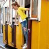 Spodnie Mayoral 6503-70 Długie spodnie jeansowe z aplikacjami dla dziewczyny