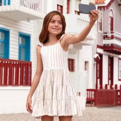 Sukienka Mayoral 6934-94 Sukienka w paski na ramiączkach dla dziewczyny