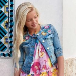 Kurtka Mayoral 6409-35 Kurtka jeansowa z aplikacjami dla dziewczyny