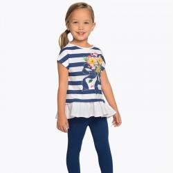Komplet Mayoral 3704-22 Komplet koszulka w paski i leginsy dla dziewczynki