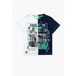 Bluzka BOBOLI 517079-2440 Koszulka chłopięca
