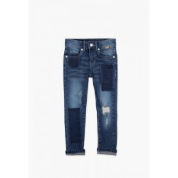 Spodnie BOBOLI 507158-BLUE Spodnie chłopięce denim