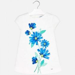 Sukienka Mayoral 3930-91 Sukienka z kwiatowym nadrukiem dla dziewczynki