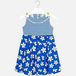 Sukienka Mayoral 3950-44 Sukienka łączona z nadrukiem dla dziewczynki