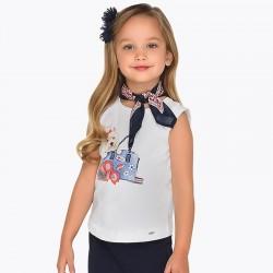 Bluzka Mayoral 3019-69 Koszulka na ramiączkach z chustą dla dziewczynki