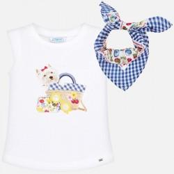 Bluzka Mayoral 3019-70 Koszulka na ramiączkach z chustą dla dziewczynki