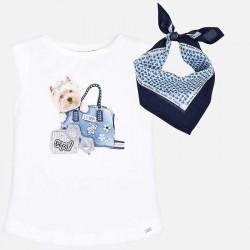 Bluzka Mayoral 3019-71 Koszulka na ramiączkach z chustą dla dziewczynki