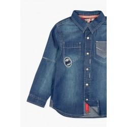 Koszula BOBOLI 527217-BLUE Koszula jeansowa chłopięca