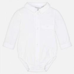 Koszula Mayoral 1738-44 Body koszulowy z długim rękawem dla chłopca Newborn