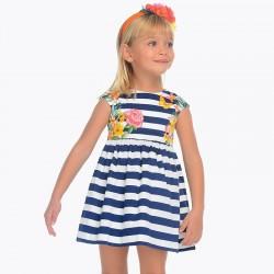 Sukienka Mayoral 3942-37 Sukienka rozkloszowana w paski dla dziewczynki