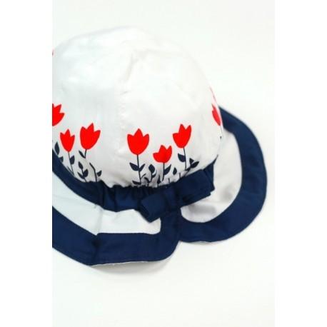 Kapelusz BOBOLI 707150-1100 Satynowy kapelusz dla dziewczynki