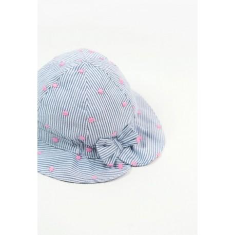 Kapelusz BOBOLI 207032-9031 Poplinowa czapka dla dziewczynki