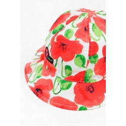 Kapelusz BOBOLI 727078-9056 Satynowy kapelusz dla dziewczynki