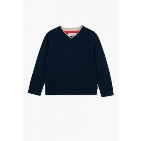 Sweterek BOBOLI 737243-2440 sweater z dzianiny dla chłopaka