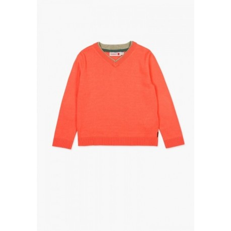 Sweterek BOBOLI 737243-3617 sweater z dzianiny dla chłopaka