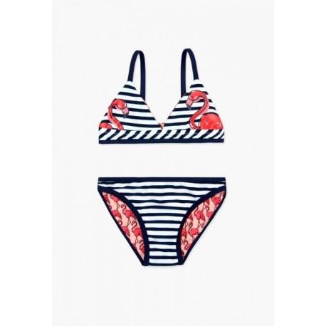 Kostium kąpielowy BOBOLI 827029-9981 Bikini dwustronne dla dziewczyny