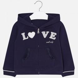 Bluza Mayoral 3411-18 Bluza z kapturem LOVE dla dziewczynki