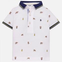 Bluzka Mayoral 1118-18 Wzorzysta koszulka polo dla chłopca Baby