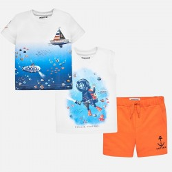 Komplet Mayoral 1644-84 Komplet koszulki z szortami Nurek dla chłopca Baby