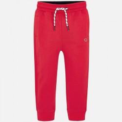 Spodnie Mayoral 742-67 dresowe czerwone wiązane w pasie model wiosenno letni cieńszy materiał