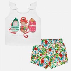 Komplet Mayoral 1231-41 Komplet szorty i koszulka buty dla dziewczynki Baby