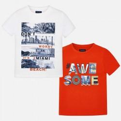 Bluzka Mayoral 6044-92 Zestaw koszulek z krótkim rękawem z nadrukiem dla chłopaka