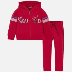 Komplet Mayoral 3808-75 Komplet dresowy czerwony dla dziewczynki