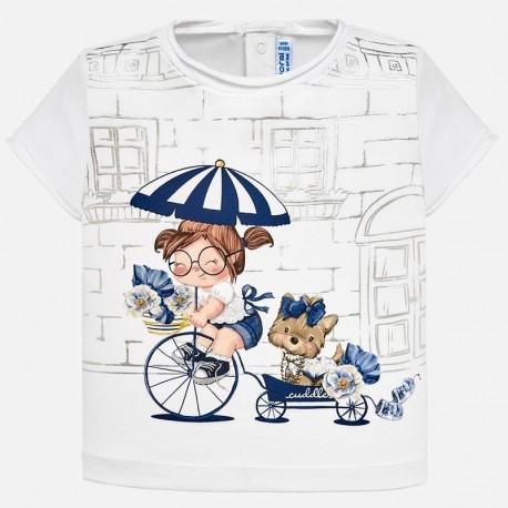 9645b48fb Nowy Bluzka Mayoral 1010-35 Koszulka z krótkim rękawem lalka dla dziewczynki  Baby