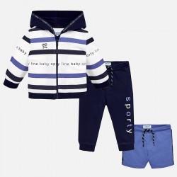 Komplet Mayoral 1850-74 Dres z bluzą w paski dla chłopca Baby