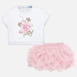 Komplet Mayoral 1950-78 Komplet koszulka i spódniczka tiulowa dla dziewczynki Baby
