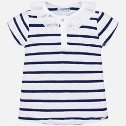 Bluzka Mayoral 3102-65 Koszulka polo w paski z krótkim rękawem dla dziewczynki