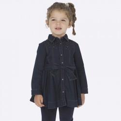 Sukienka Mayoral 4933-05 dżinsowa z połyskiem dla dziewczynki