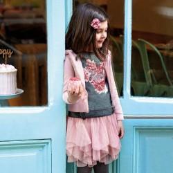 Komplet Mayoral 4951-70 bluza ze spódnicą tiulową dla dziewczynki