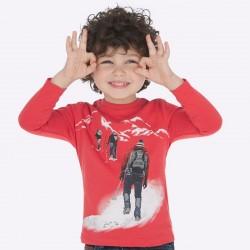 Bluzki 2szt Mayoral 4021-87 Zestaw koszulek z nadrukiem dla chłopca