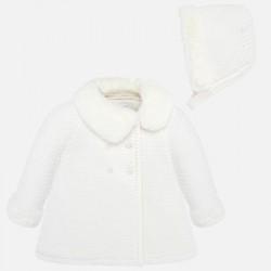Płaszcz Mayoral 2407-81 z futerkiem dla dziewczynki
