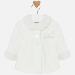 Aksamitny Płaszcz Mayoral 2408-92 z aplikacjądla dziewczynki