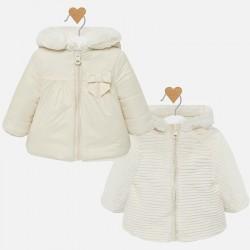 Dwustronna kurtka Mayoral 2408-92 z futerkiem dla dziewczynki